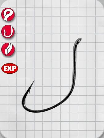 Крючок Gamakatsu Hook LS-3524F Ring Eye Series №12 (77433)Одинарные крючки<br>Gamakatsu LS-3524 Ring Eye – сверх надежный кованый крючок, форма которого отлично держит разнообразные живые насадки, а так же отлично подходит для офсетных спиннинговых техник. Крючок прекрасно засекается во время подсечки и надежно держит рыбу на протя...<br>