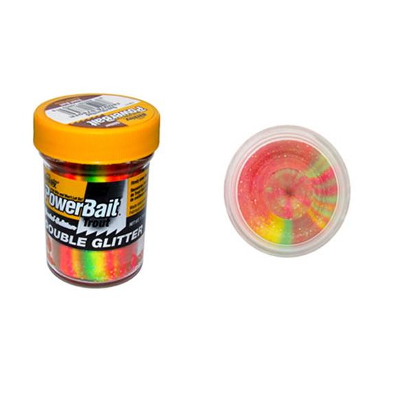 Форелевая паста Berkley Double Glitter Twist SYel./SGreen/FlRed 1105521 (73812)Насадки<br>Мягкая паста для ловли форели заслуживает особый интерес, входящий в состав блеск привлекает внимание рыбы, прекрасно играет на солнечном свете. Вам останется только выбрать с каким вкусом и ароматом будет приманка.<br>