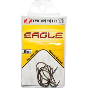 Крючки рыболовные Tsuribito Eagle №4 (в упак. 10шт.) (NI)Одинарные крючки<br><br>