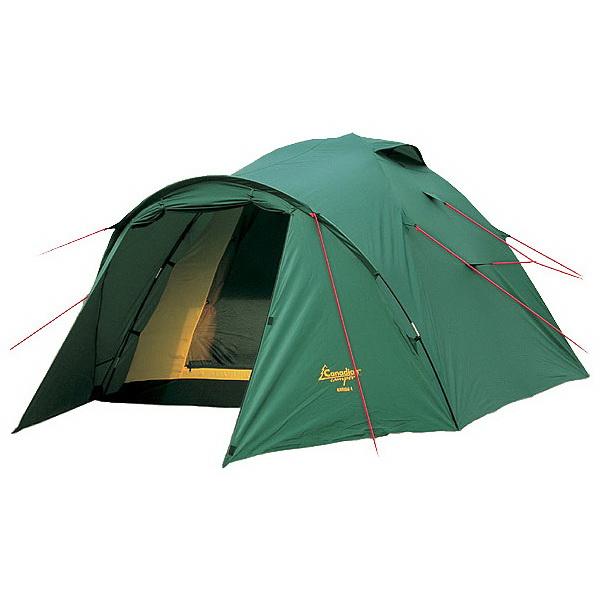 Палатка Canadian Camper Karibu 3 (цвет woodland)Палатки<br>Классическая туристическая палатка с тамбуром, предназначенная для проживания 3 человек. Имеет устойчивый полусферический каркас из стеклопластиковых дуг.<br>