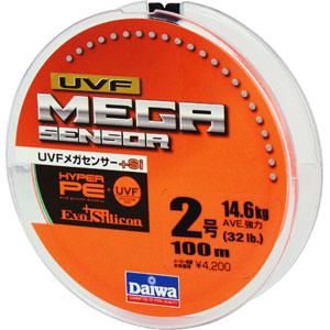 Леска Daiwa UVF Megasensor + Si #2-100 (25119)Плетеные шнуры<br>Cпециальной обработкой при помощи системы UVF (Ultra Volume Fiber)<br>