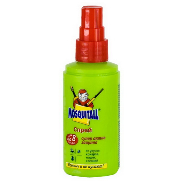 Спрей Mosquitall Супер Актив защита от комаров 75мл