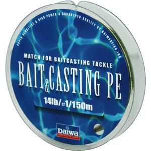 Леска Daiwa Bait Casting Pe 14 lb (25131)Плетеные шнуры<br>Леска плетеная Bait &amp; Cast PE - изначально была адаптирована производителем под мультипликаторные катушки. Сравнивая с классическими PE шнурами, у лески плетеной Daiwa Bait &amp; Casting прослеживается в несколько раз большая жесткость. Это преимущество с бол...<br>