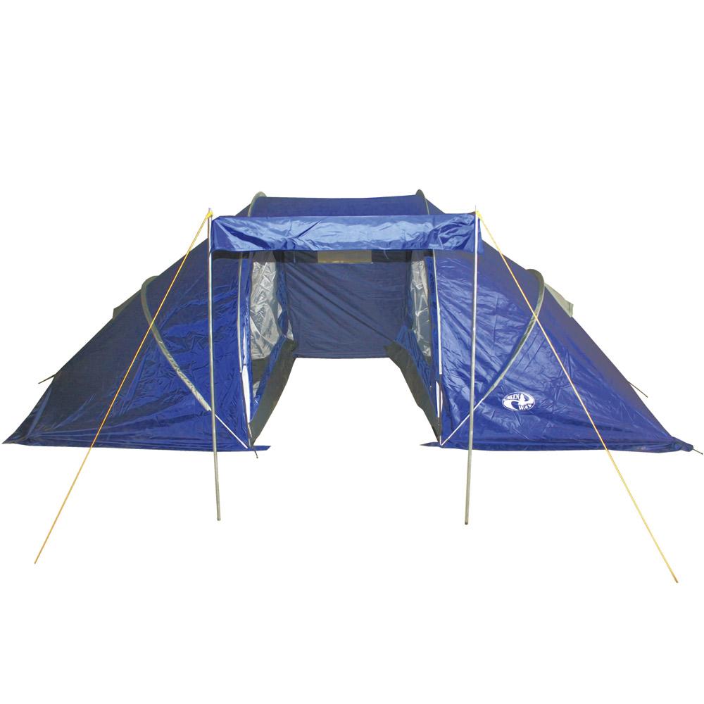 Палатка GreenWay 4 местная  Bari 124P-4FRTПалатки<br>Кемпинговая двухслойная четырехместная палатка Bari с 2-мя жилыми отсеками, большим тамбуром и навесом.<br>