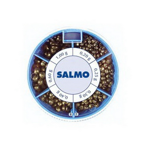 Грузила Salmo Дробинка 6 секц. крупн. 120г набор (51601)Грузила, отцепы<br>Крупные свинцовые дробинки для поплавочной ловли. Дробинка легко фиксируется на леске, не требуя дополнительных элементов. Благодаря шарообразной форме, в воде создается минимальное сопротивление. Используя грузила, можно прямо на месте рыбалки создать не...<br>