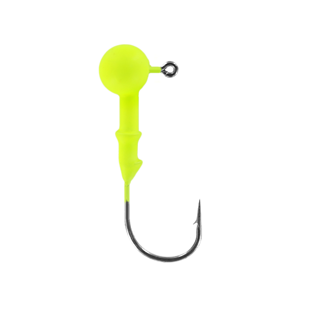 Джигголовка вольфрам-полимерная Tsuribito Tungsten Jig Heads Resin Round, крючок#1/0, вес 3.5 г, 3 шт., цвет шартрез (93603)Джигголовки, Чебурашки<br>Материал: вольфрам-полимерная<br>