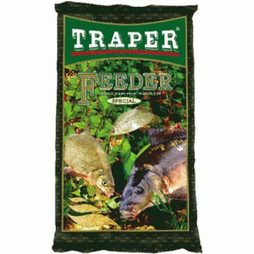 Прикормка Traper Feeder (Фидер) 2,5кг 00061Прикормки<br>Feeder – вязкая смесь желтоватого цвета с приятным сладким запахом. Помол – мелкий, но в обязательном порядке присутствуют и крупные частицы кондитерского происхождения.<br>
