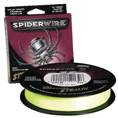 Леска плетеная Spiderwire Stealth Tracer Yellow 137 м, #0.10 (61903)Плетеные шнуры<br>Плетеный шнур желтого цвета, отличное сочетание цены и качества.<br>