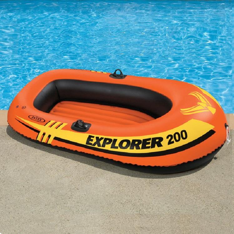 Лодка Intex надувная Explorer 200 SET, двухместная, 185х94х41см, с веслами и насосом 58331