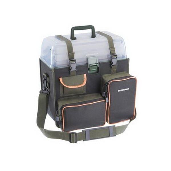 Сумка Cormoran Sport Fishing Bags Modell 3005Сумки и рюкзаки<br>Удобная сумка для приманок Sport Fishing Bags Modell с тремя отделами изготовлена из прочного, надежного материала – оксфорд 600Д с ПВХ пропиткой. Оснащена тремя передними карманами: горизонтальным, вертикальным и карманом для мелочей.<br>