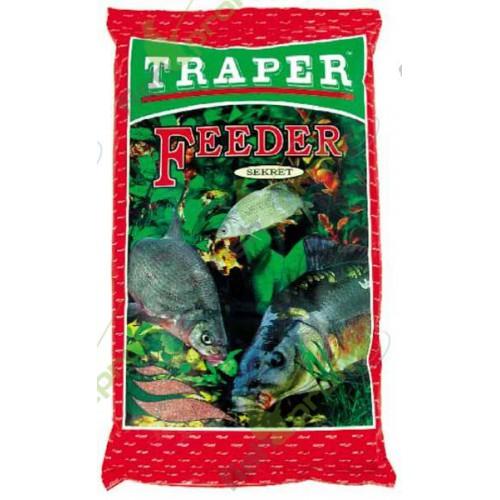 Прикормка Traper Secret Feeder Red (Фидер красный) 1кг 00024Прикормки<br>Серия прикормок Secret разработана экспертами фирмы TRAPER для рыбалки в таких условиях, когда необходима прикормочная смесь определённого цвета. Ведь, к примеру, в холодной и прозрачной воде рыба, как известно, смелее подходит на прикормку тёмных тонов,...<br>