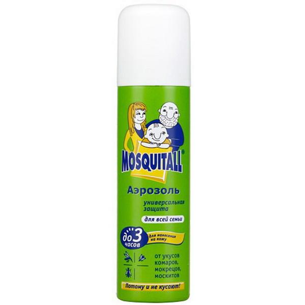 Аэрозоль Mosquitall от комаров Универсальная Защита 150 мл.