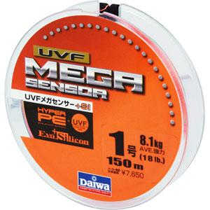 Леска Daiwa UVF Megasensor + Si #1-150 (19721)Плетеные шнуры<br>Cпециальной обработкой при помощи системы UVF (Ultra Volume Fiber)<br>