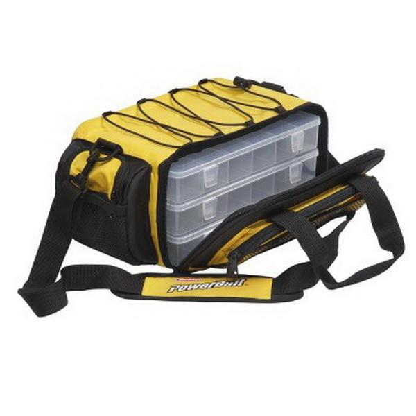 Сумка для снастей Berkley Powerbait L 45x23x23смСумки и рюкзаки<br>Средняя по размеру рыболовная Сумка Powerbait Berkley в комплекте 4 коробки со съемными разделителями.<br>