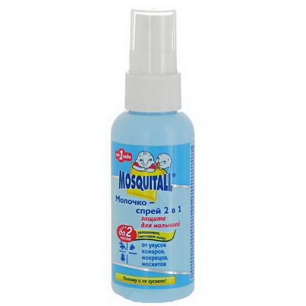 Спрей Mosquitall Молочко Защита для малышей 2 в 1 от комаров