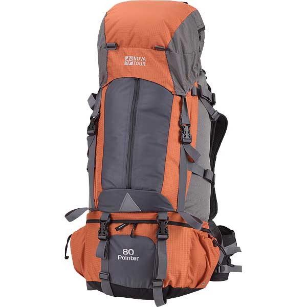 Рюкзак NovaTour Пойнтер 80 (серый/терракотовый)Рюкзаки<br>Рюкзак NovaTour Пойнтер 80  - объемный туристический  очень удобный рюкзак. Вместительный, удобный очень легко транспортируется за счет широкого поясного ремня, который берет на себя основную нагрузку.<br>