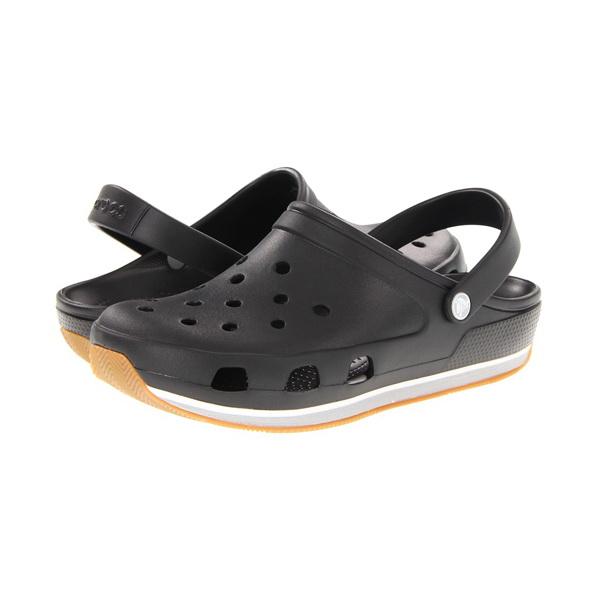Сабо crocs унисекс ретро клог блэклайт грей