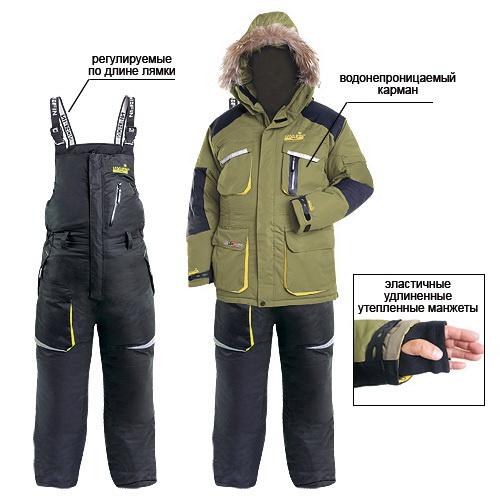 Костюм зимний Norfin пух. TITANКостюмы/комбинзоны<br>Современный функциональный костюм для зимних видов спорта и комфортной рыбалки.<br>