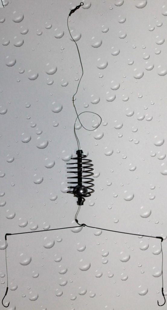 Монтаж TexDen спирально-пружинный №24 кормушка 5см 10-12гр, коромысло 6,5-8,5см (63996)Оснастка<br>Монтаж спирально-пружинный TexDen - это оснащение рыболовной снасти для ловли рыбы со дна. При производстве донных снастей используются только высококачественные комплектующие: корейские крючки Metzui, плетёный шнур Power Pro, Sufix, Benkei, Climax. Разно...<br>