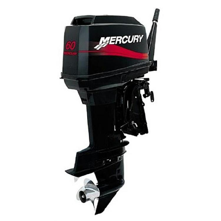 Лодочный мотор Mercury ME 60 EOПодвесные моторы<br>Mercury 60 EO оснащен гидравлической системой регулирования угла наклона, что дает несомненное преимущество при выходе на глиссер, прохождении отмелей и достижении максимальной скорости.<br>