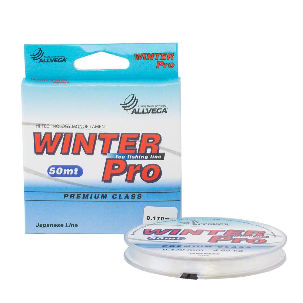 Леска Allvega поводковая «Winter Pro» 50 м 0,105 мм (96607)Леска зимняя<br>Леска поводковая Allega «Winter Pro» это высокотехнологичная японская леска нового поколения. Она изготовлена специально для рыболовов-спортсменов. Размерный ряд включает особо тонкие сечения. Высокие показатели нагрузки на разрыв. Хорошо переносит низкие...<br>
