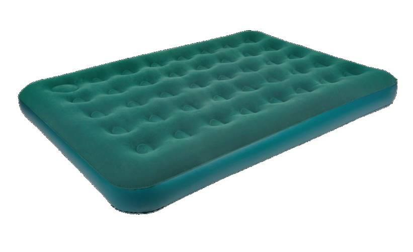 Кровать JILONG RELAX FLOCKED AIR BED QUEEN со встроенным ножным насосом