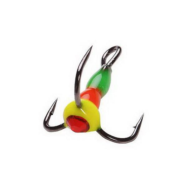 Крючок тройн. Salmo для приман. LJ Scandi с каплей цвет. 12/GRY светонакоп. (43775)Тройники<br>Крючок – тройник для приманок. Тройник оснащен пластиковой цветной каплей, которая очень хорошо привлекает внимание рыбы в воде.<br>