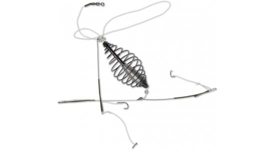 Оснастка донная Deep River (кормушка 25гр, 2 крючка №6) (65273)Оснастка<br>Оснастка донная Deep Rive - это необходимый атрибут любой рыбалки, позволяющий аккуратно прикармливать рыбу на разном расстоянии от берега. Кормушка является не только контейнером для доставки прикормки, но и выполняет функцию грузила. Она должна удержива...<br>