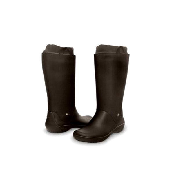 Сапоги Crocs РэйнФло Бут Эспрессо/Эспрессо р. 38,5 (W 8) (76208)Сапоги<br>Встречайте грозу и дождь невозмутимо с непромокающими, комфортными полуботинками CROCS. Они надёжно защитят ступни и голени от влаги и грязи.<br>