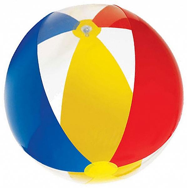 Мяч Intex 61см (полосатый) (59032)Надувные мячи<br>Мяч изготовлен из прочного винила, поэтому он устойчив к повреждениям, истиранию, выгоранию и агрессивным средам.  Для малышей лучше всего подходит надувной мяч, ведь он гораздо легче и удобнее резинового.<br>