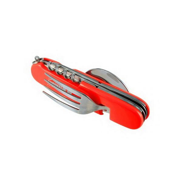 Столовые приборы Adrenalin набор туриста и путешественника FS-02 RedПриборы столовые туристические<br>Столовые приборы - набор туриста и путешественника. В комплекте: вилка, ложка, нож, штопор, консервный нож.<br>