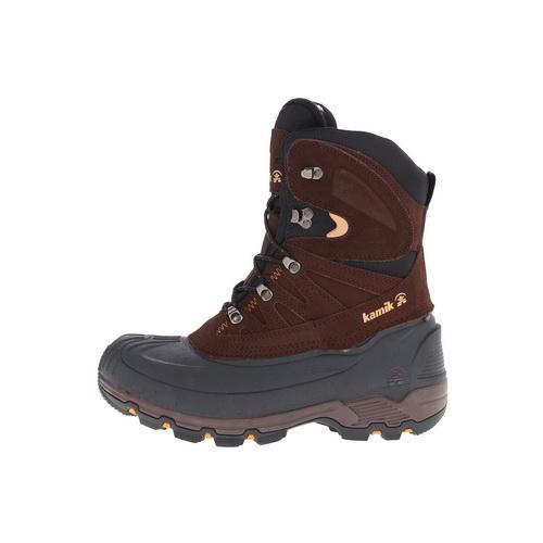 Ботинки Kamik Nordicpas 2, мужск., верх: комбинированные, при движ. -40°C, р-р 42, цвет темно-коричневый (59071)Ботинки<br>Утепленные ботинки для зимнего активного отдыха, рыбалки и охоты.<br>