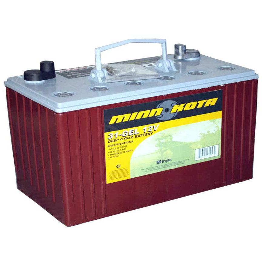Аккумулятор Minn Kota MK-31-GEL (гелевый, глуб. разрядки, 102 а/ч)Аккумуляторы и зарядные устройства<br>Аккумуляторные батареи от компании Minn Kota являются незаменимым элементом лодочных электромоторов, полностью обеспечивающим их работу, такие важные характеристики, как емкость в 102 А/ч, размеры отвечающие стандартам и небольшой вес в 30 кг позволяют им...<br>