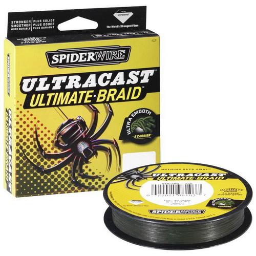 Леска плетеная Spiderwire Ultracast Ultimate Braid Lo-Vis Green 110 мПлетеные шнуры<br>Леска с одними из лучших показателей прочности на разрыв, подходит для ловли самой крупной и активной рыбы.<br>