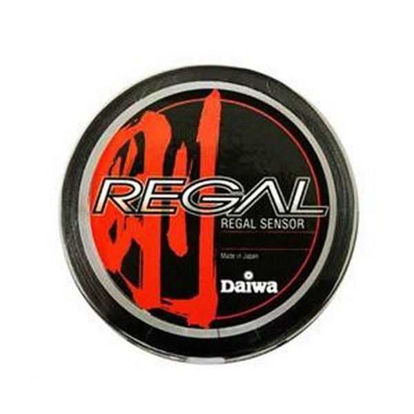 Леска плетеная Daiwa Regal Sensor #0,8-6LB (150M) Green (68913)Плетеные шнуры<br>Леска плетеная из материала Super PE выполнена менее эластичной для достижения большей чувствительности. Без памяти, цвет черный.<br>