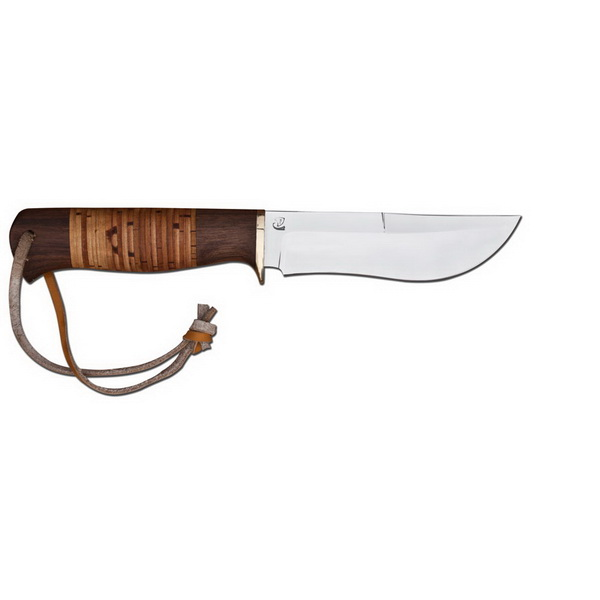 Нож Эскимос сталь Х12МФ (береста)Ножи разные<br>Нож отлично подойдет для нарезания продуктов на природе. Широкое брюшко на клинке подходит для обдирки шкур животных, таких как барсук, кабан, рысь.<br>