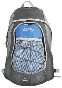 Рюкзак NovaTour Раш 30 V2 Серый/синий 95495-463-00Рюкзаки<br>Карабин для ключей, органайзер, светоотражающие элементы, карман из сетки, дублируемый эластичным шнуром на фронтальной части, грудная стяжка, съемная поясная стропа.<br>