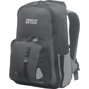 Рюкзак NovaTour водонепроницаемый Тритон 20 Серый 95141-906-00Рюкзаки<br>Компактный рюкзак для ношения спортивной одежды и всего необходимого для тренировок на свежем воздухе. Вам больше не нужно переживать по поводу содержимого рюкзака, если на велопрогулке застанет дождь – все молнии на рюкзаке водонепроницаемы<br>