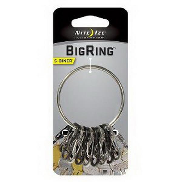 Брелок NiteIze для ключей BigRing стальной BRG-M1-R3Брелоки и карабины<br>Nite Ize BigRing — большое и вместительное кольцо для хранении и переноса множества ключей.<br>