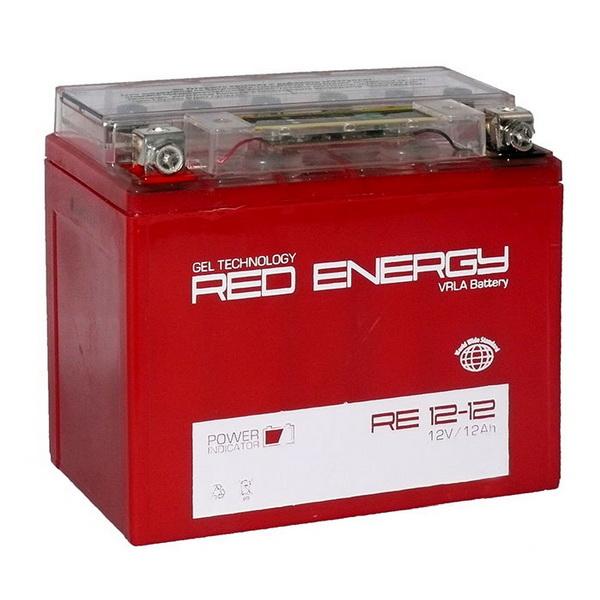 Аккумулятор Red Energy RE 12-12Аккумуляторы<br>Аккумулятор с напряжением 12V, предназначенный для использования в дизельных генераторах, мотоциклах, водных мотоциклах и другой технике.<br>