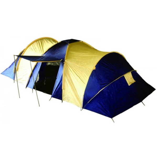 Палатка GreenWay 8 местная Barbara 123С-8 FRTПалатки<br>Кемпинговая двухслойная восьмиместная палатка Barbara с 2-мя жилыми отсеками, большим тамбуром и навесом.<br>