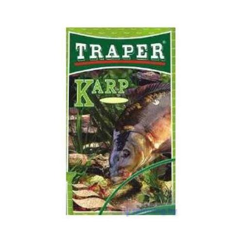 Прикормка Traper Carp (Карп) 1кг 00054Прикормки<br>Светлая прикормка крупного помола. Имеет высокую пищевую ценность и сложную комбинацию запахов, основным из которых является клубничный.<br>