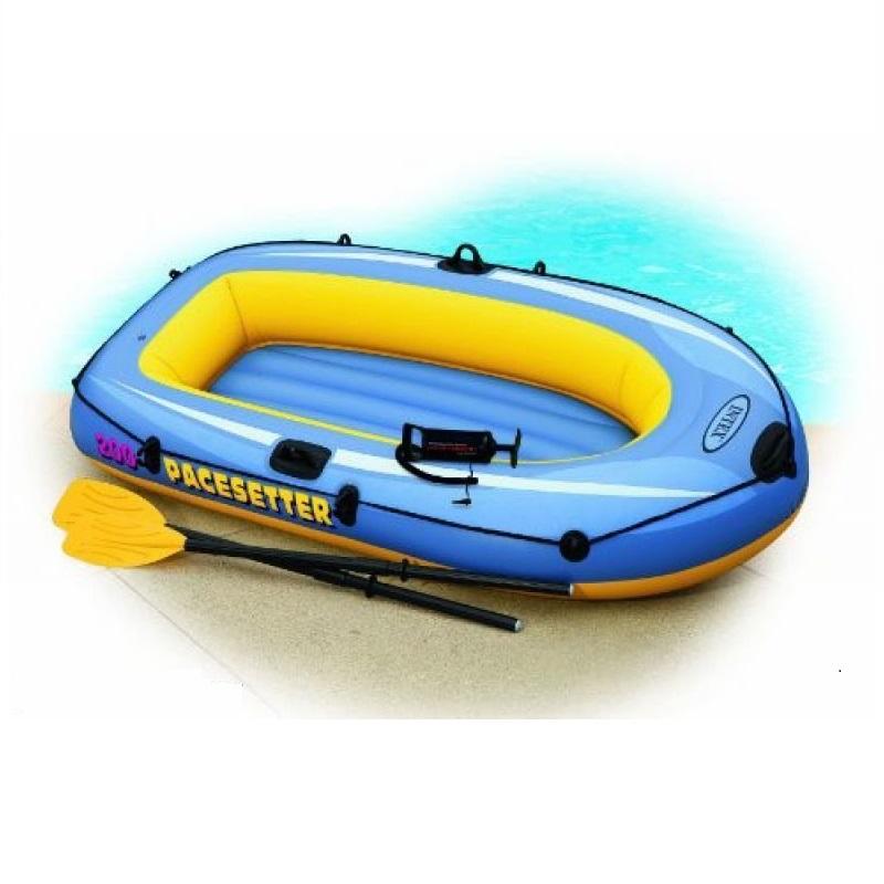 Лодка Intex надувная Pacesetter 200 SET, двухместная, 196х102х33см, с насосом и веслами 58347