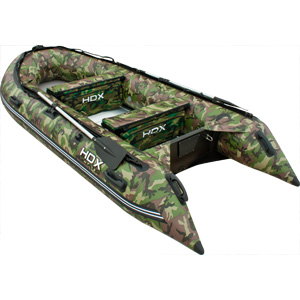 Надувная лодка HDX Oxygen 390 (цвет камуфляж зеленый)