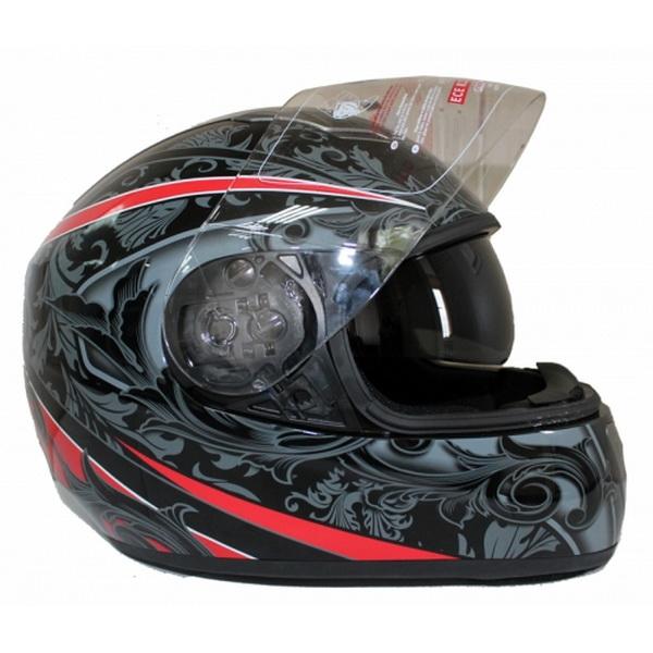 Шлем UMC Н520-2, размер L , с очками серо-белыйШлемы и маски<br>Интегральный шлем для скутера современного дизайна и функциональности с двумя визорами. Идеально подходит для активных, амбициозных, целенаправленных людей.<br>