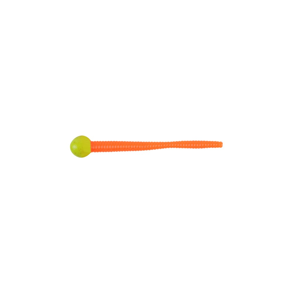 Червь Berkley Powerbait Mice Tail 7,5см, силиконовый, цв. салатовый/оранжевый (61827)Мягкие приманки<br><br>