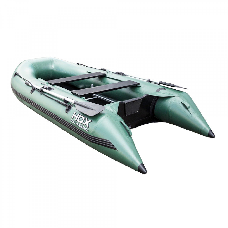 Надувная ПВХ лодка HDX Classic 300 с пайолом, цвет серыйЛодки ПВХ под мотор<br>Многофункциональная модель, сочетающая в себе возможности гребной и моторной лодки одновременно.<br>