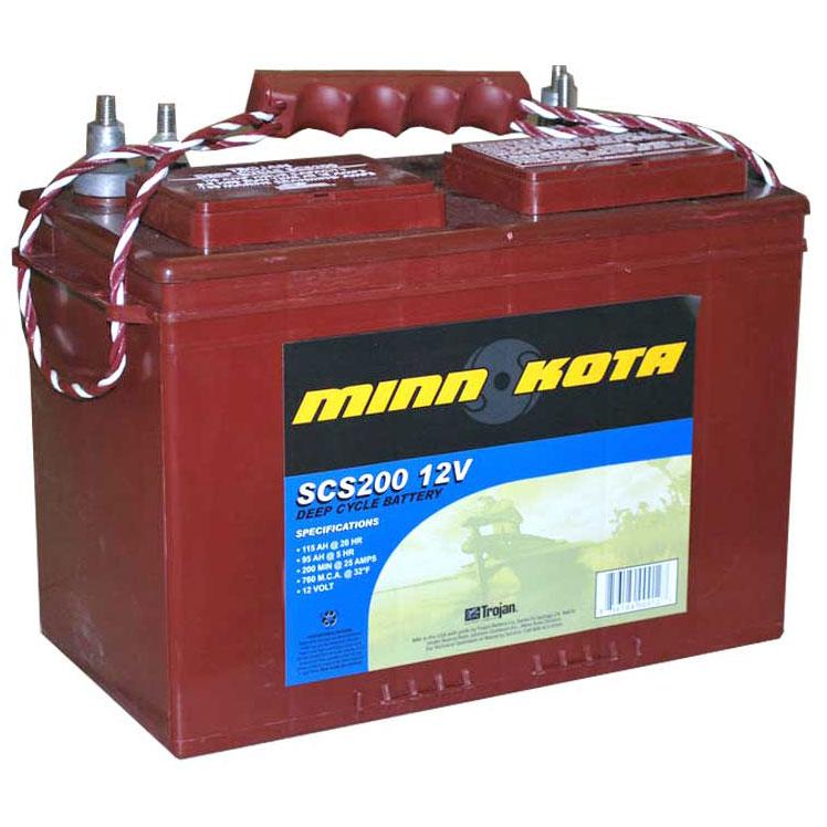 аккумуляторы для лодочного электромотора minn kota
