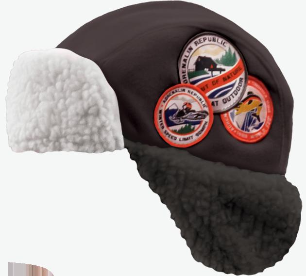 Шапка-ушанка Adrenalin Republic Helmet черная (90175)Шапки/шарфы<br>Теплая шапка-ушанка Adrenalin Republic Helmet из 100% полиэстера позволит комфортно себя чувствовать даже в самые сильные морозы.<br>