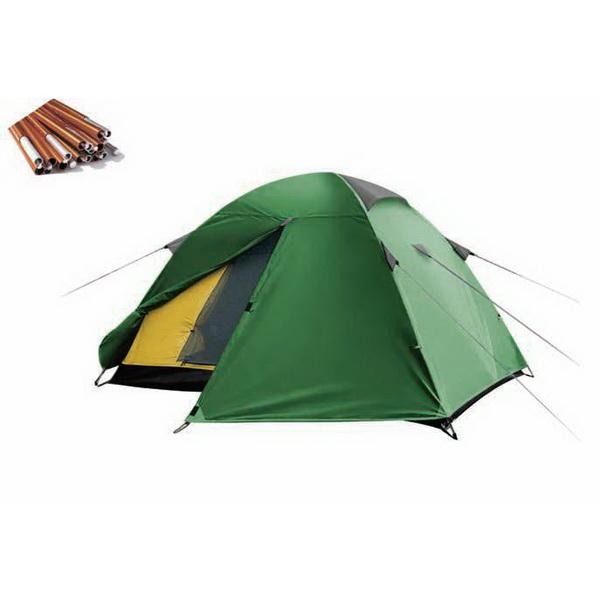 Палатка Canadian Camper Jet 3 Al (цвет green)Палатки<br>Универсальная туристическая палатка Canadian Camper JET 3 AL с большим тамбуром и антимоскитными сетками  предназначена для длительных пеших походов. Она обеспечивает надежную защиту от ветра, солнца и дождя.<br>